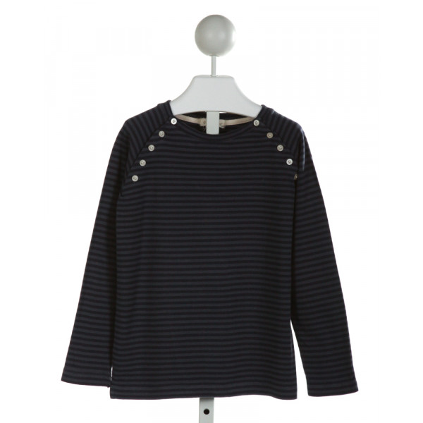 OLIVE JUICE  NAVY  STRIPED  KNIT LS SHIRT