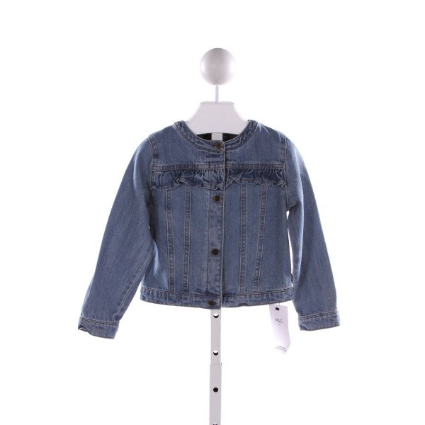 M & S  BLUE DENIM   OUTERWEAR WITH RUFFLE