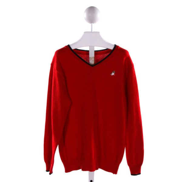 JANIE AND JACK  RED   EMBROIDERED SWEATER