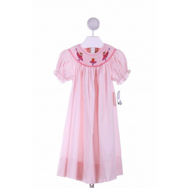 ROSALINA  PINK   SMOCKED CASUAL DRESS