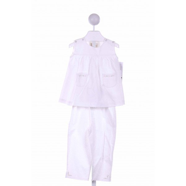 STRASBURG  WHITE   EMBROIDERED 2-PIECE OUTFIT