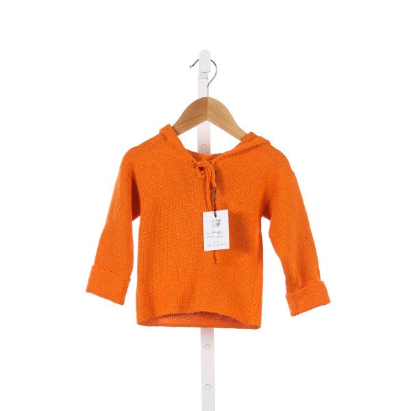 MARUMA KIDS ORANGE SWEATER WITH HOOD *SIZE 9-12M