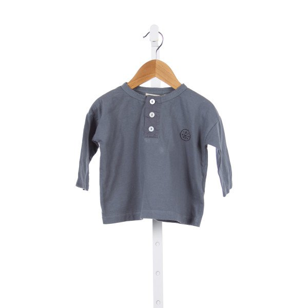BOBO CHOSES GRAY KNIT SHIRT *SIZE 12-18M