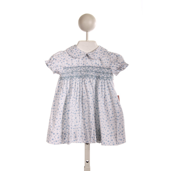 KAYCE HUGHES SMOCKED DAY DRESS IN BLUE HEARTS