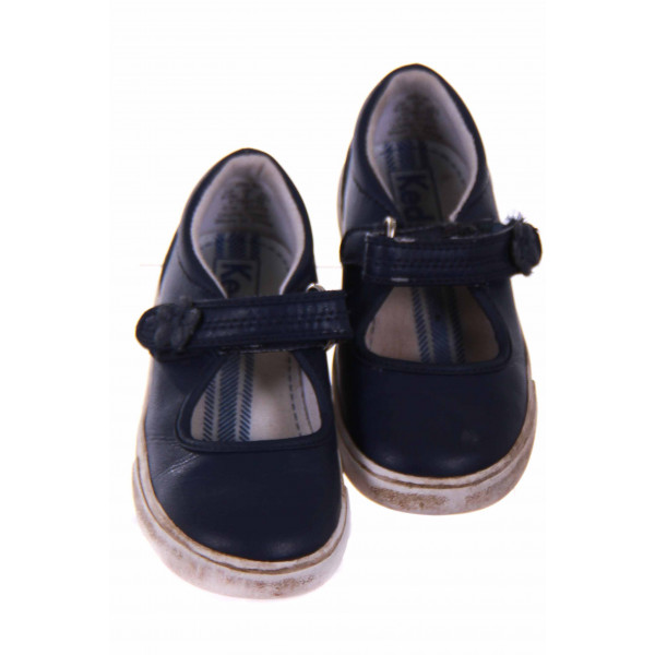 KEDS LEATHER NAVY SHOE WITH VELCRO STRAP *SIZE 8.5