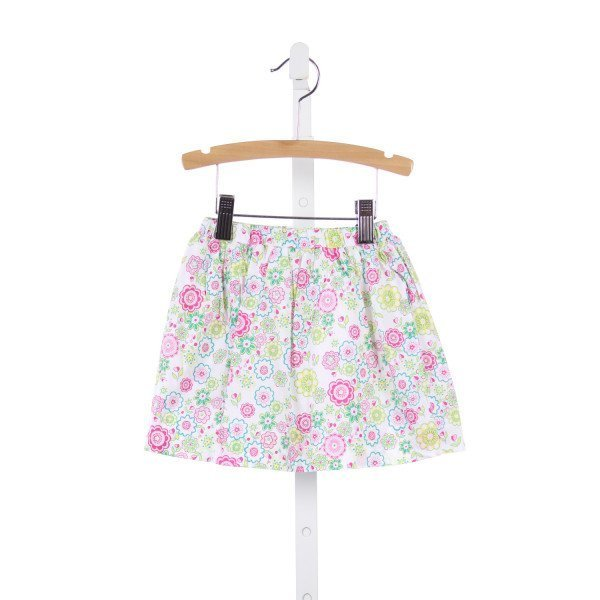 JEANINE JOHNSEN PINK AND GREEN LIBERTY FLORAL SKIRT