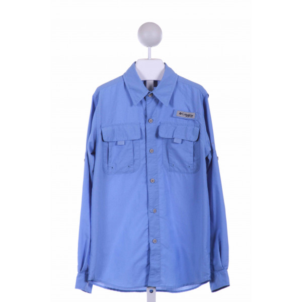 COLUMBIA  BLUE    CLOTH LS SHIRT