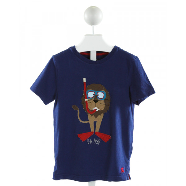 JOULES  ROYAL BLUE   EMBROIDERED T-SHIRT