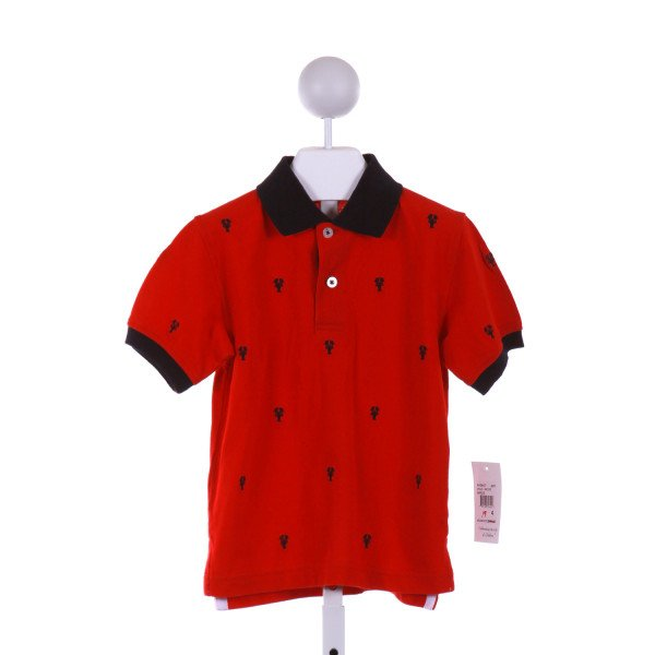 KITESTRINGS  RED   EMBROIDERED KNIT SS SHIRT