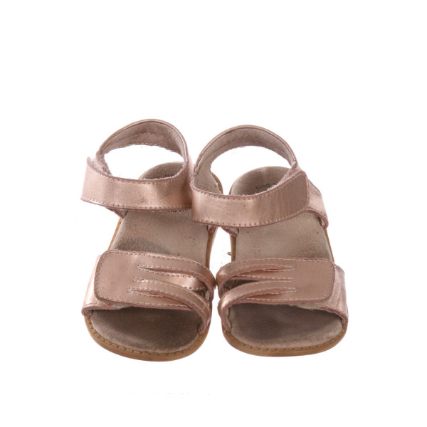 LIVIE & LUCA ROSE GOLD SANDALS *SIZE 10, VGU, SOLE DISCOLORATION