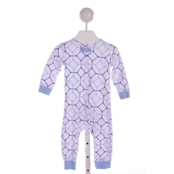 THREAD BLANKS  BLUE   PRINTED DESIGN LONGALL/ROMPER