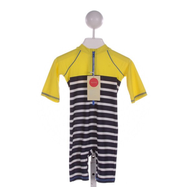 BABY BODEN  MULTI-COLOR  STRIPED  1-PIECE SWIMSUIT
