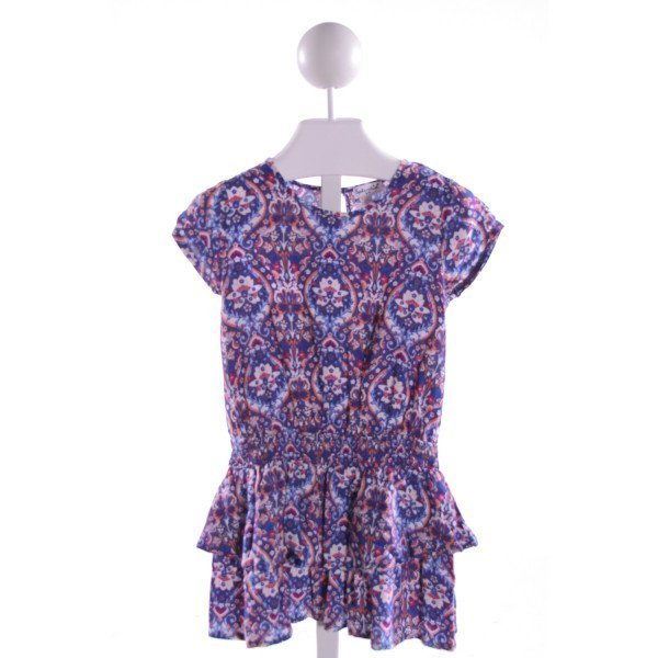SPLENDID  MULTI-COLOR  FLORAL PRINTED DESIGN KNIT DRESS WITH RUFFLE