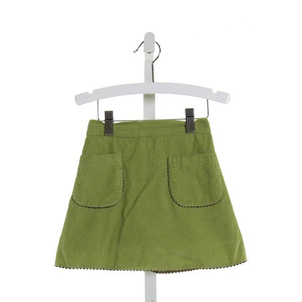 KATE & LIBBY  GREEN CORDUROY   SKORT WITH RIC RAC