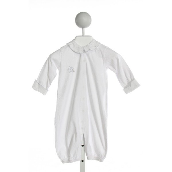 COTTON WHITE  WHITE   EMBROIDERED LAYETTE