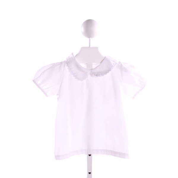 NO TAG  WHITE    CLOTH SS SHIRT WITH RIC RAC