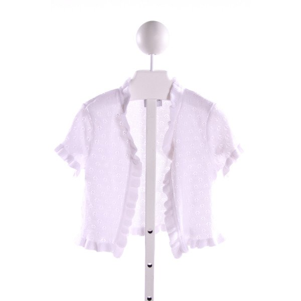MAGGIE BREEN  WHITE    CARDIGAN WITH RUFFLE