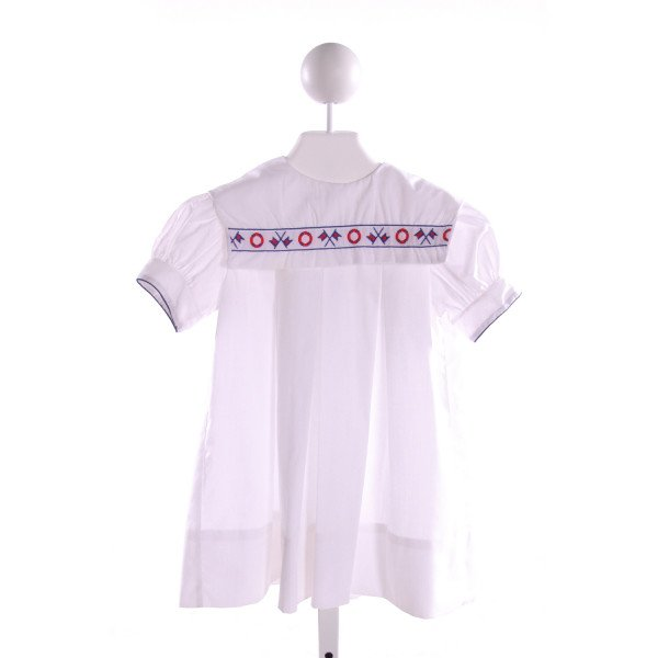 ANCE K  WHITE   EMBROIDERED DRESS