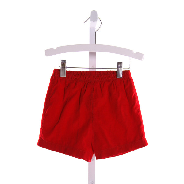 MULBERRY STREET  RED CORDUROY   SHORTS