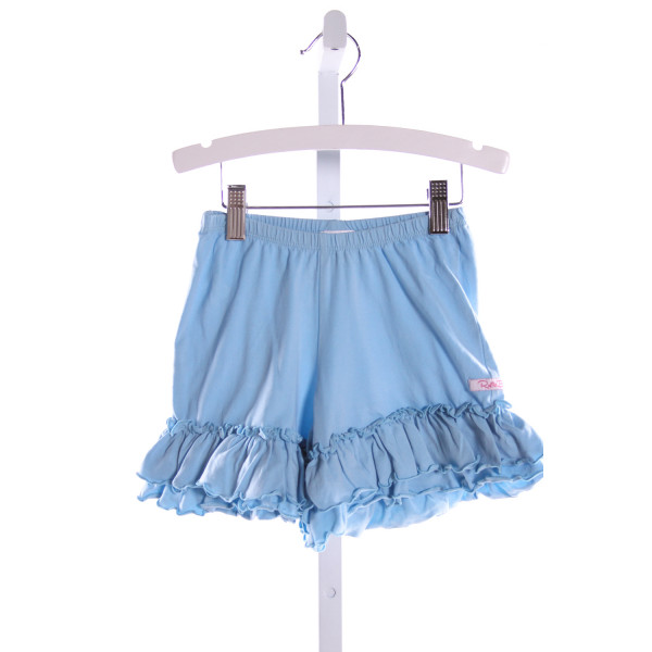 RUFFLE BUTTS  LT BLUE    SHORTS WITH RUFFLE