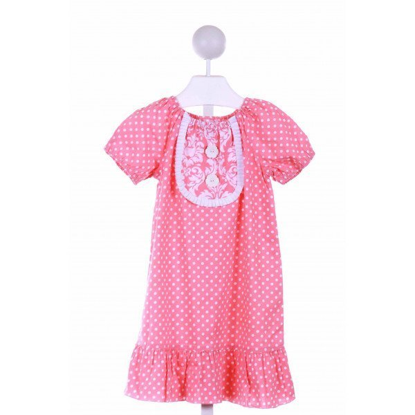 LOLLY WOLLY DOODLE  PINK  POLKA DOT  CASUAL DRESS