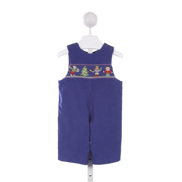 ANAVINI ROYAL BLUE CORD SMOCKED NUTCRACKER THEME