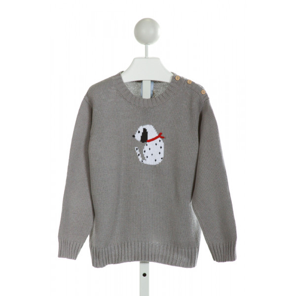 BELLA BLISS  GRAY   EMBROIDERED SWEATER