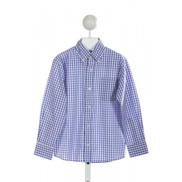 BELLA BLISS  BLUE  GINGHAM  CLOTH LS SHIRT