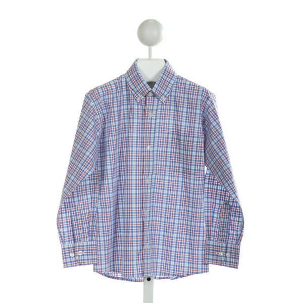 BELLA BLISS  BLUE  PLAID  CLOTH LS SHIRT