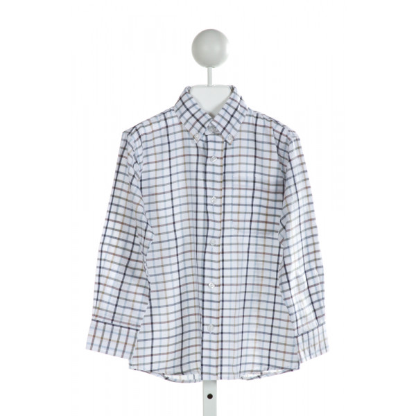 BELLA BLISS  MULTI-COLOR  PLAID  CLOTH LS SHIRT