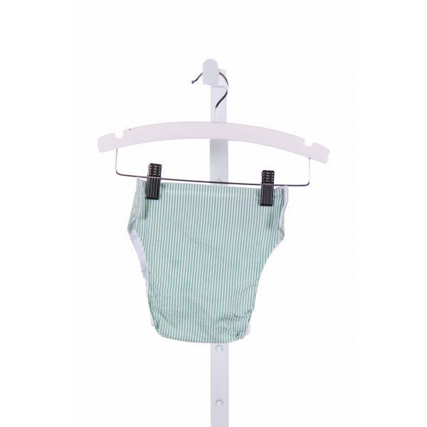 THE BEAUFORT BONNET COMPANY  GREEN SEERSUCKER   DIAPER COVER