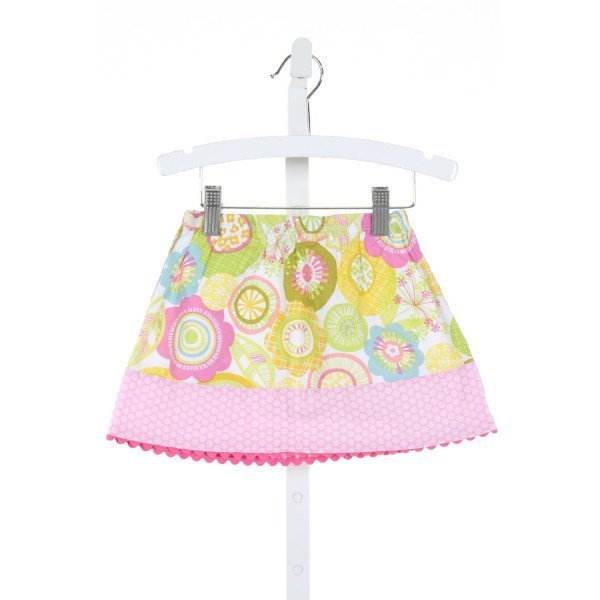 LOLLIPOP LAUNDRY  MULTI-COLOR  POLKA DOT PRINTED DESIGN SKIRT WITH RIC RAC