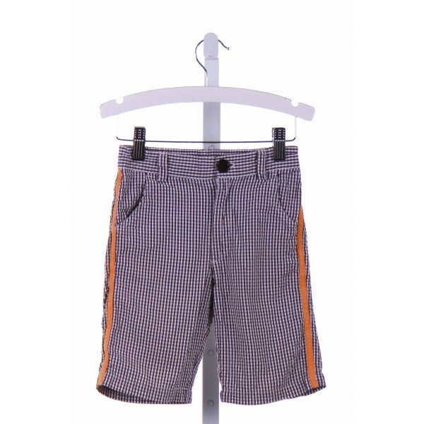 KULE BY NIKKI KULE  BROWN SEERSUCKER GINGHAM  SHORTS