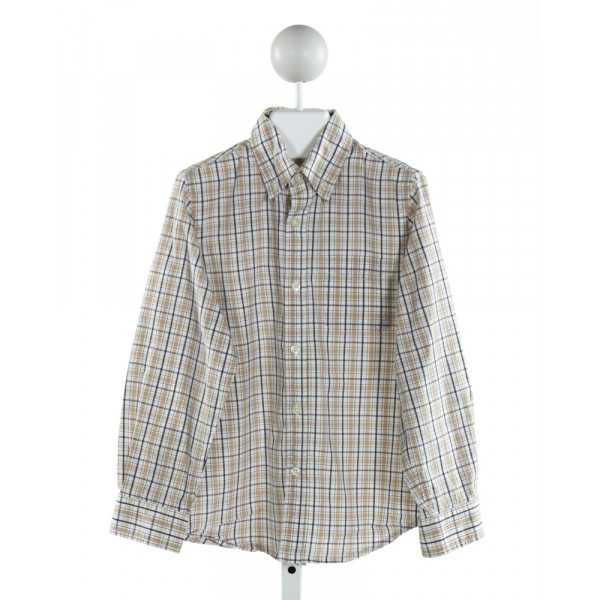 E-LAND  BROWN  PLAID  CLOTH LS SHIRT