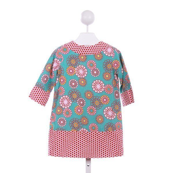 LA JENNS  BLUE CORDUROY FLORAL  CASUAL DRESS