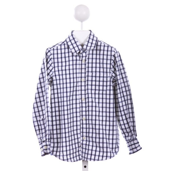 E-LAND  BLUE  GINGHAM  CLOTH LS SHIRT