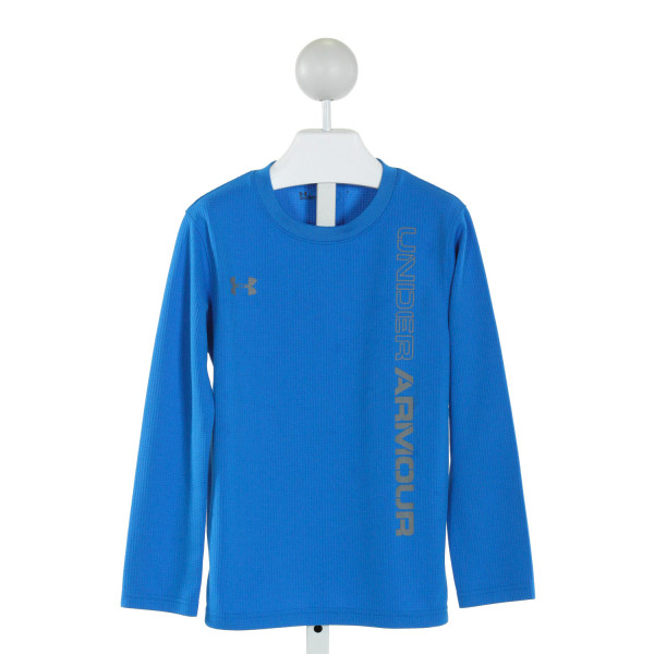 UNDER ARMOUR  BLUE   PRINTED DESIGN CLOTH LS SHIRT
