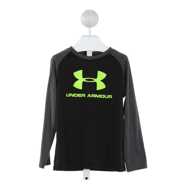 UNDER ARMOUR  BLACK   PRINTED DESIGN CLOTH LS SHIRT