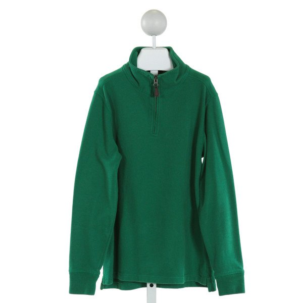 CREWCUTS FACTORY  GREEN    QUARTER ZIP PULLOVER