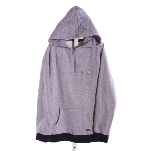 7 FOR ALL MANKIND  GRAY    QUARTER ZIP PULLOVER