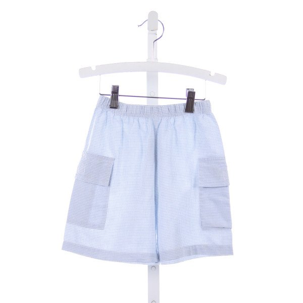 HEAVENLY KIDS BLUE GINGHAM SHORTS WITH POCKETS