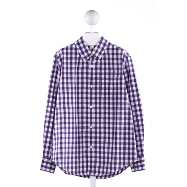 CREWCUTS  MULTI-COLOR  GINGHAM  CLOTH LS SHIRT