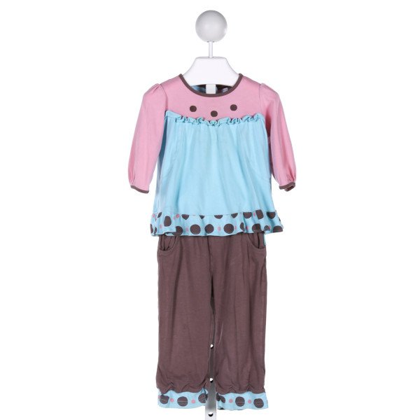 RABBIT MOON  MULTI-COLOR  POLKA DOT  2-PIECE OUTFIT WITH RUFFLE