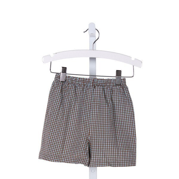 SEW BLESSED  MULTI-COLOR  GINGHAM  SHORTS