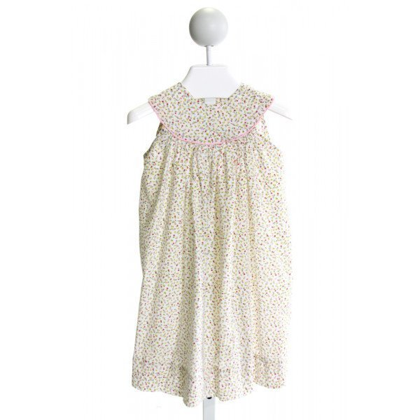 DAISIES & DOODLEBUGS  WHITE  FLORAL  DRESS