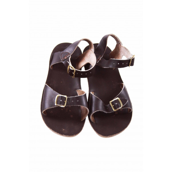 SUN SAN/SALTWATER BROWN SANDALS TODDLER SIZE 12 *VGUC (LIGHT WEAR)