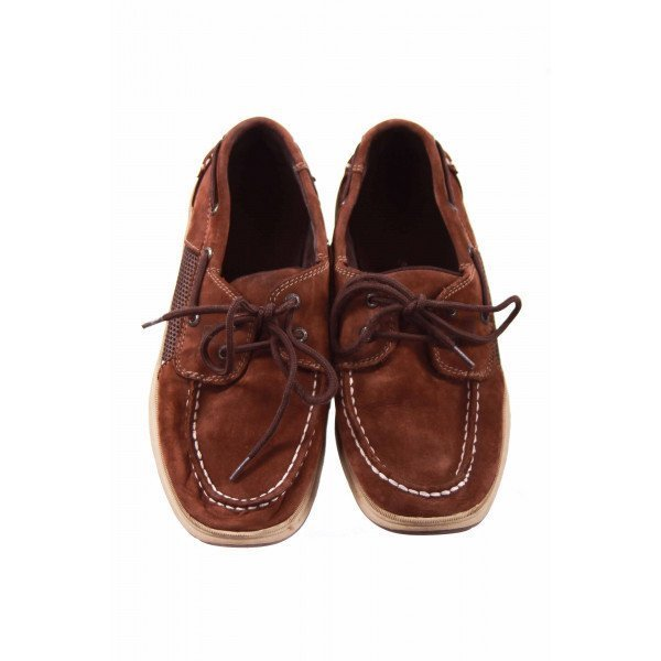 SPERRY BROWN SUEDE LOAFERS CHILD SIZE 5 *EUC