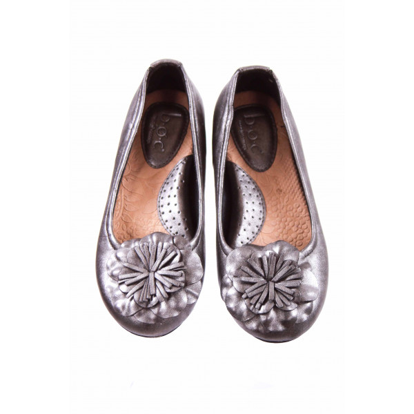 BORN METALLIC GRAY FLATS TODDLER SIZE 13 *EUC