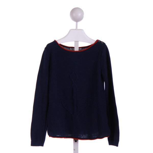 H&M  BLUE    KNIT LS SHIRT