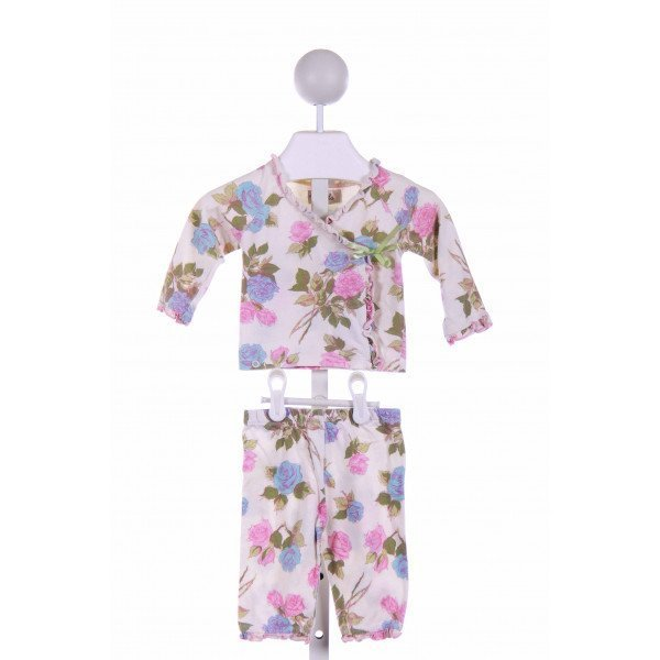 TRALALA  OFF-WHITE  FLORAL  2-PIECE OUTFIT